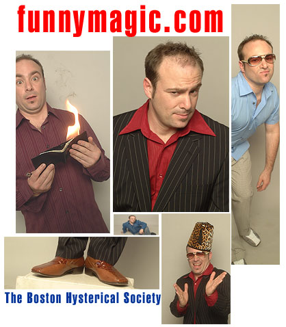 boston comedian magician hypnotist peter gross - montage Boston Hysterical Society